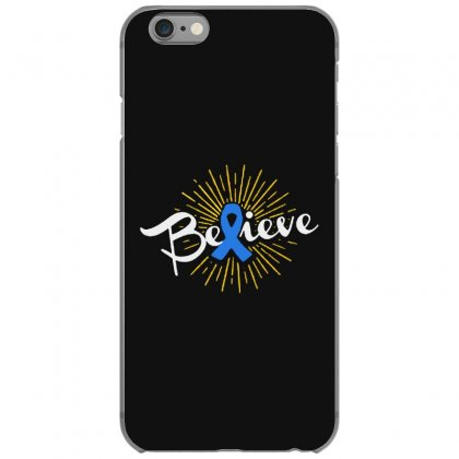 Believe Leukemia Cancer Ribbon Iphone 6/6s Case Designed By Pinkanzee