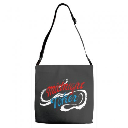 Midnight Toker Adjustable Strap Totes Designed By Pinkanzee