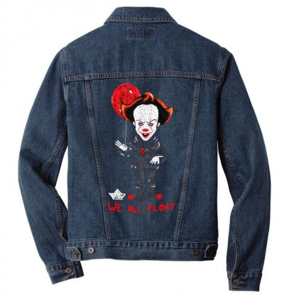 It Pennywise We All Float Men Denim Jacket Designed By Pinkanzee