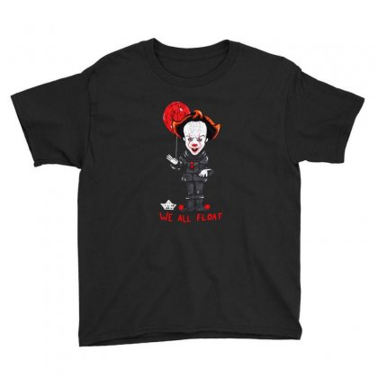 It Pennywise We All Float Youth Tee Designed By Pinkanzee