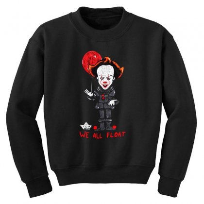 It Pennywise We All Float Youth Sweatshirt Designed By Pinkanzee