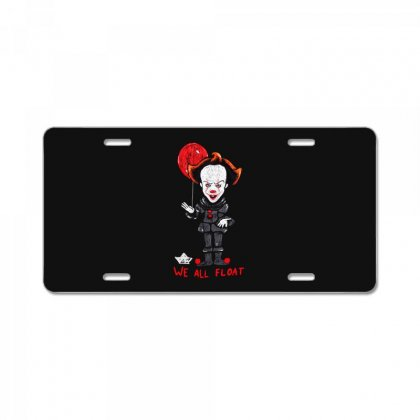 It Pennywise We All Float License Plate Designed By Pinkanzee