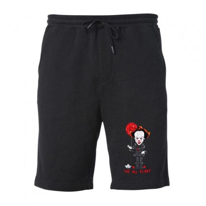 It Pennywise We All Float Fleece Short Designed By Pinkanzee