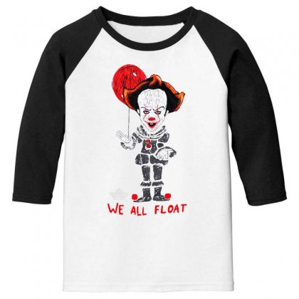 It Pennywise We All Float Youth 3/4 Sleeve Designed By Pinkanzee