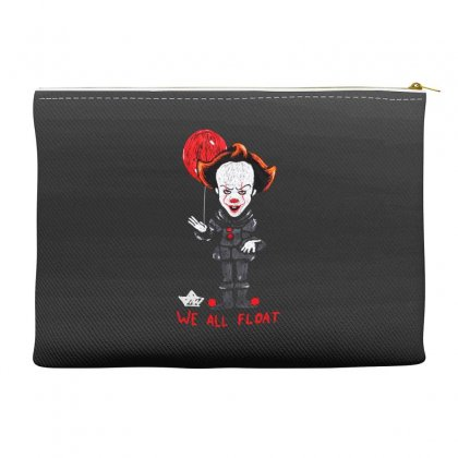 It Pennywise We All Float Accessory Pouches Designed By Pinkanzee