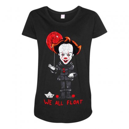 It Pennywise We All Float Maternity Scoop Neck T-shirt Designed By Pinkanzee