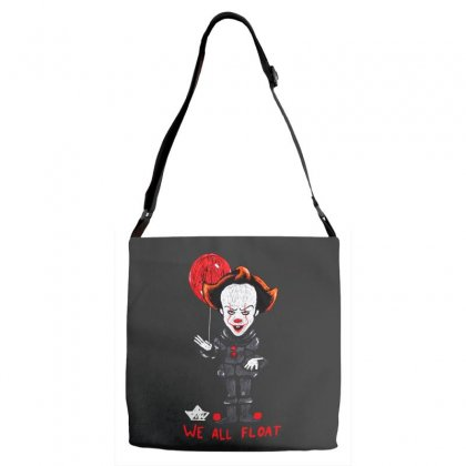 It Pennywise We All Float Adjustable Strap Totes Designed By Pinkanzee