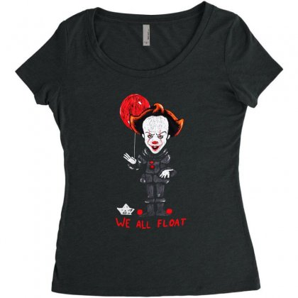 It Pennywise We All Float Women's Triblend Scoop T-shirt Designed By Pinkanzee
