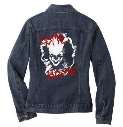 It Chapter Two Come Home Ladies Denim Jacket Designed By Pinkanzee