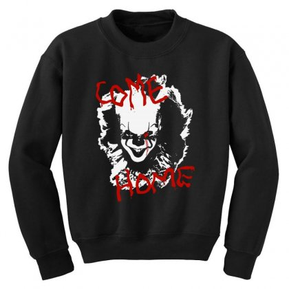 It Chapter Two Come Home Youth Sweatshirt Designed By Pinkanzee