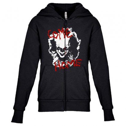 It Chapter Two Come Home Youth Zipper Hoodie Designed By Pinkanzee