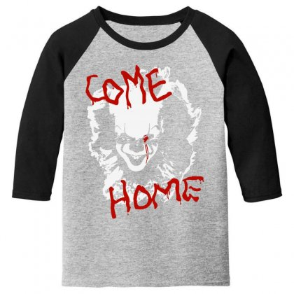 It Chapter Two Come Home Youth 3/4 Sleeve Designed By Pinkanzee
