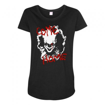 It Chapter Two Come Home Maternity Scoop Neck T-shirt Designed By Pinkanzee