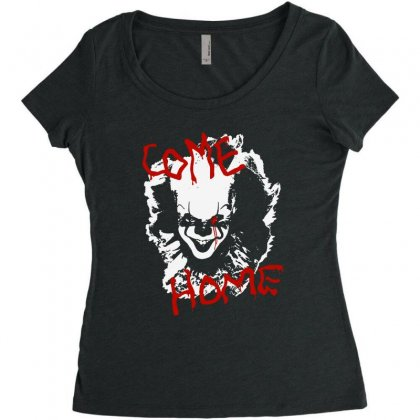 It Chapter Two Come Home Women's Triblend Scoop T-shirt Designed By Pinkanzee