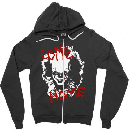 It Chapter Two Come Home Zipper Hoodie Designed By Pinkanzee