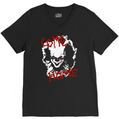 It Chapter Two Come Home V-neck Tee Designed By Pinkanzee