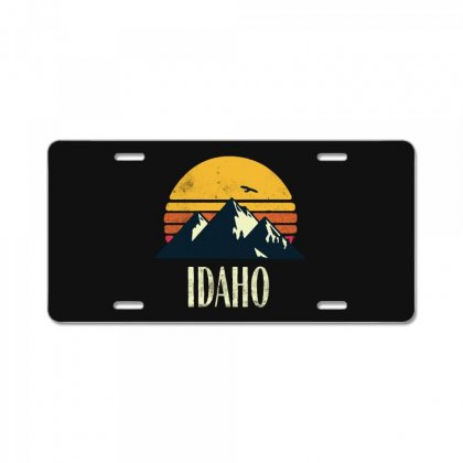 Idaho Retro Vintage License Plate Designed By Pinkanzee