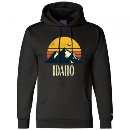 Idaho Retro Vintage Champion Hoodie Designed By Pinkanzee