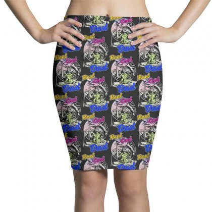 Dad Gift Funny   Reel Cool Dad Pencil Skirts Designed By Pinkanzee