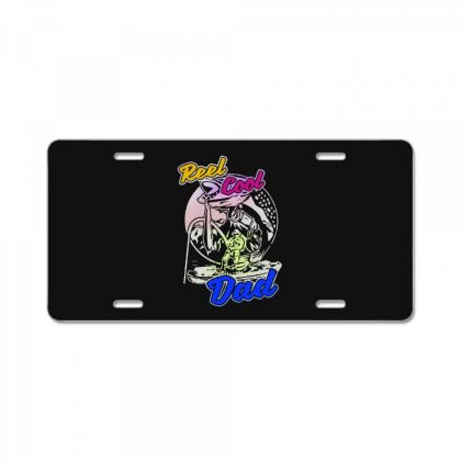 Dad Gift Funny   Reel Cool Dad License Plate Designed By Pinkanzee