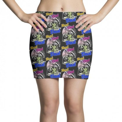 Dad Gift Funny   Reel Cool Dad Mini Skirts Designed By Pinkanzee