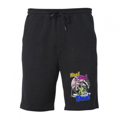 Dad Gift Funny   Reel Cool Dad Fleece Short Designed By Pinkanzee
