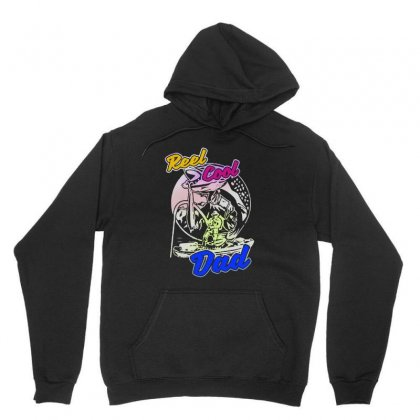 Dad Gift Funny   Reel Cool Dad Unisex Hoodie Designed By Pinkanzee