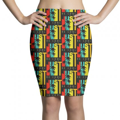 Hawaiian Just Be Cool Vintage Pencil Skirts Designed By Pinkanzee