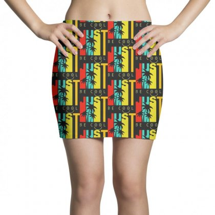 Hawaiian Just Be Cool Vintage Mini Skirts Designed By Pinkanzee