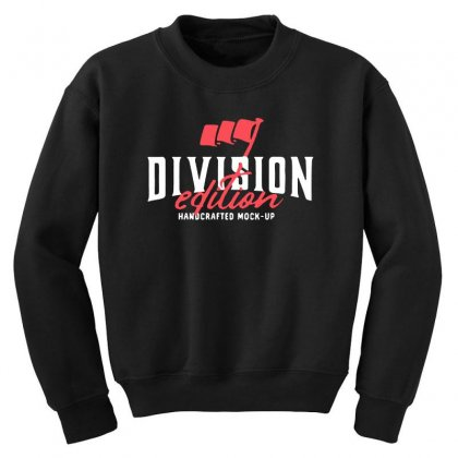 Division Youth Sweatshirt Designed By Pinkanzee