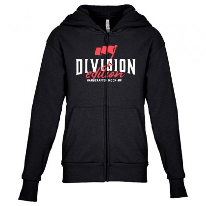 Division Youth Zipper Hoodie Designed By Pinkanzee
