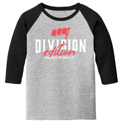 Division Youth 3/4 Sleeve Designed By Pinkanzee