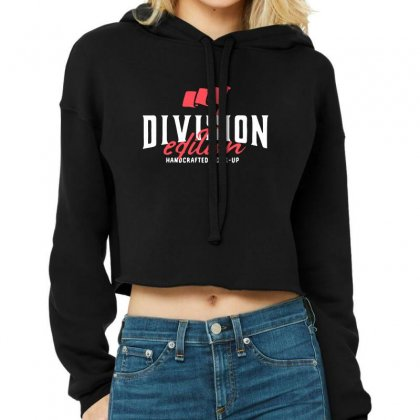 Division Cropped Hoodie Designed By Pinkanzee