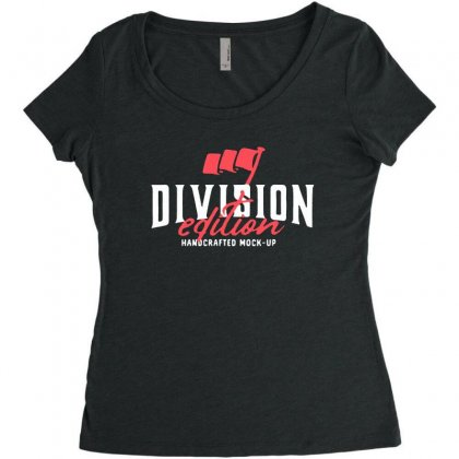 Division Women's Triblend Scoop T-shirt Designed By Pinkanzee