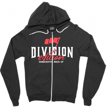 Division Zipper Hoodie Designed By Pinkanzee