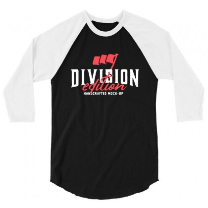 Division 3/4 Sleeve Shirt Designed By Pinkanzee