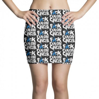 Colon Cancer Mini Skirts Designed By Pinkanzee