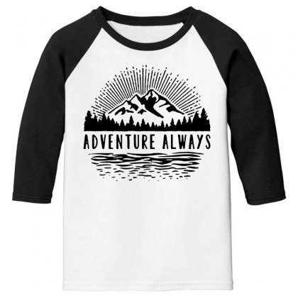 Adventure Always Youth 3/4 Sleeve Designed By Pinkanzee
