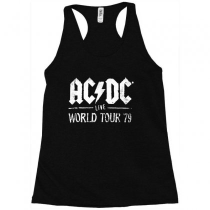 Acdc Live World Tour 79 Racerback Tank Designed By Pinkanzee