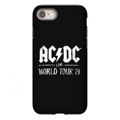 Acdc Live World Tour 79 Iphone 8 Case Designed By Pinkanzee