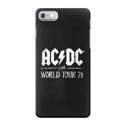 Acdc Live World Tour 79 Iphone 7 Case Designed By Pinkanzee