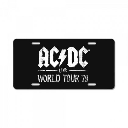 Acdc Live World Tour 79 License Plate Designed By Pinkanzee