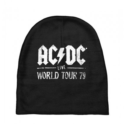 Acdc Live World Tour 79 Baby Beanies Designed By Pinkanzee