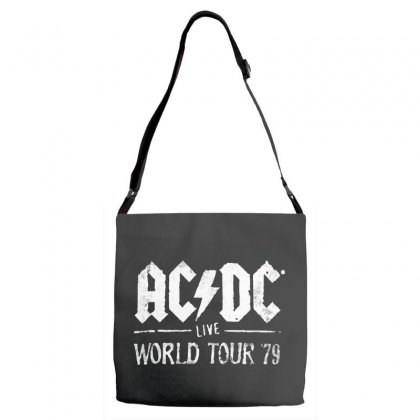 Acdc Live World Tour 79 Adjustable Strap Totes Designed By Pinkanzee
