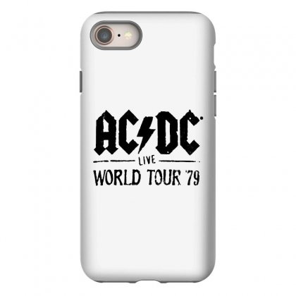 Acdc Live World Tour 79 In Black Iphone 8 Case Designed By Pinkanzee