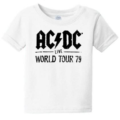 Acdc Live World Tour 79 In Black Baby Tee Designed By Pinkanzee
