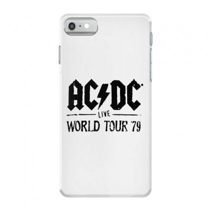 Acdc Live World Tour 79 In Black Iphone 7 Case Designed By Pinkanzee