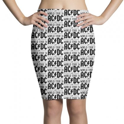 Acdc Live World Tour 79 In Black Pencil Skirts Designed By Pinkanzee