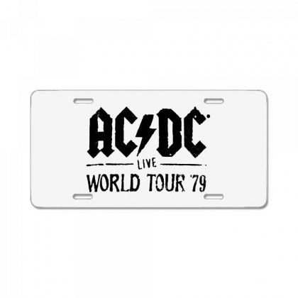 Acdc Live World Tour 79 In Black License Plate Designed By Pinkanzee