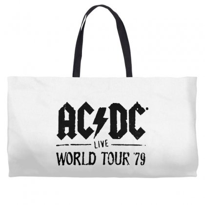 Acdc Live World Tour 79 In Black Weekender Totes Designed By Pinkanzee